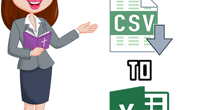 Download and Import  CSV File Into Excel-Step By Step