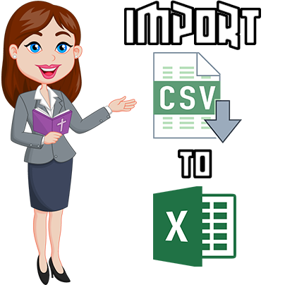 import csv file to excel